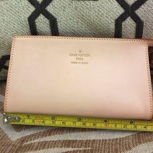 Authentic Louis Vuitton wristlet companion pouch